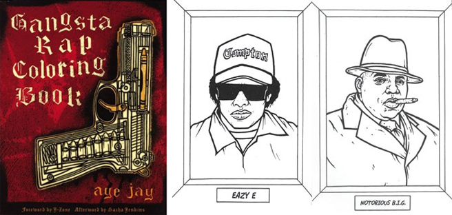 Gangsta Rap Colouring Book | FUN DMC